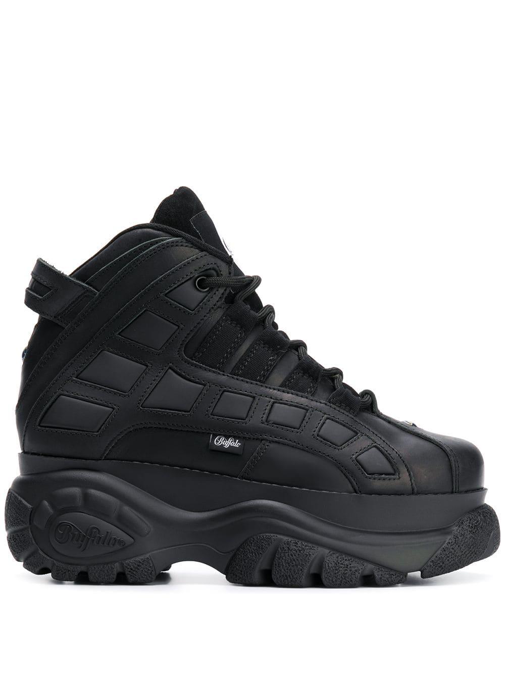 3ef23bbd5d9 Buffalo Hi-Top Platform Sneakers - Black