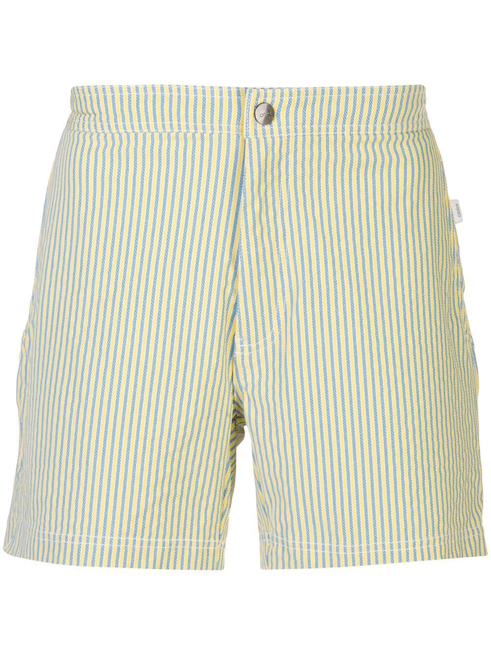 0c1389d21596 Onia Calder Stripe Swim Shorts - Yellow | ModeSens