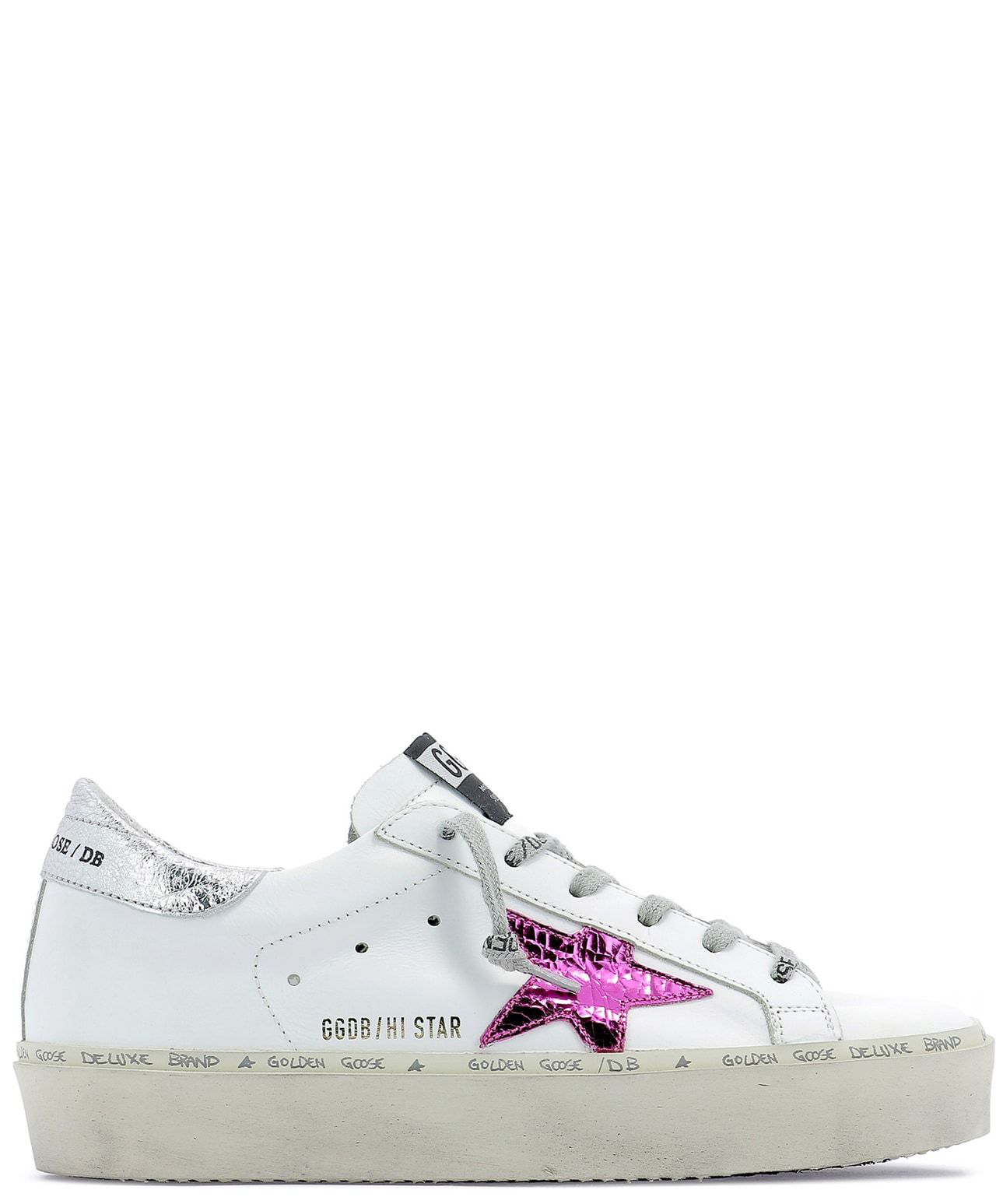 d8d4afff02d2 Golden Goose Deluxe Brand Hi Star Sneakers In White