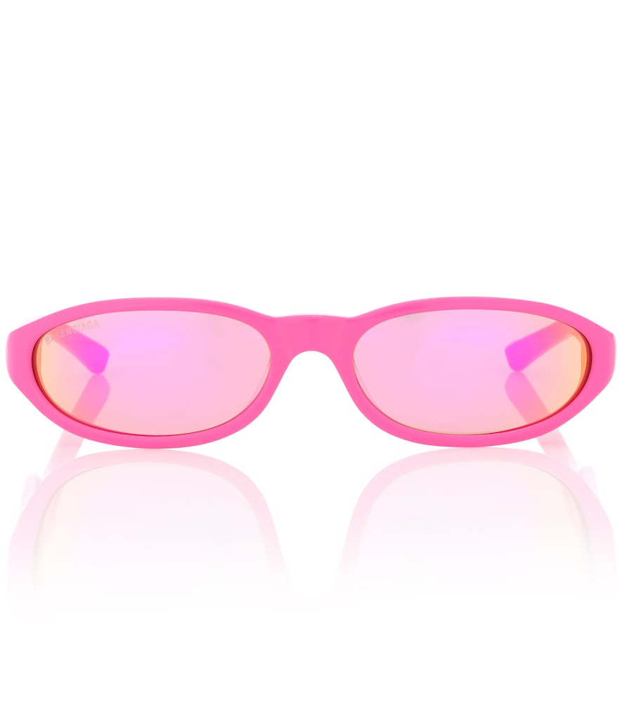 5fafc2eeaf Balenciaga Neo Oval-Frame Acetate Sunglasses In Pink