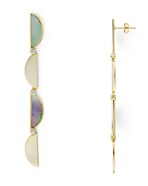 a1e46783c Argento Vivo Crescent Mother-Of-Pearl Drop Earrings In 18K Gold-Plated  Sterling