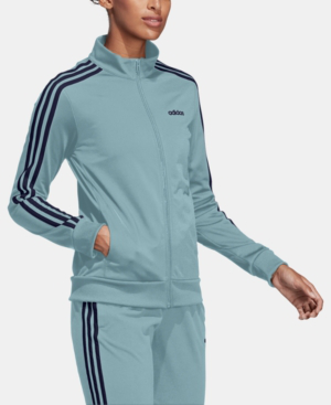 3f1e239dffa3 Adidas Originals Adidas Essential 3-Stripe Tricot Track Jacket In Ash Grey