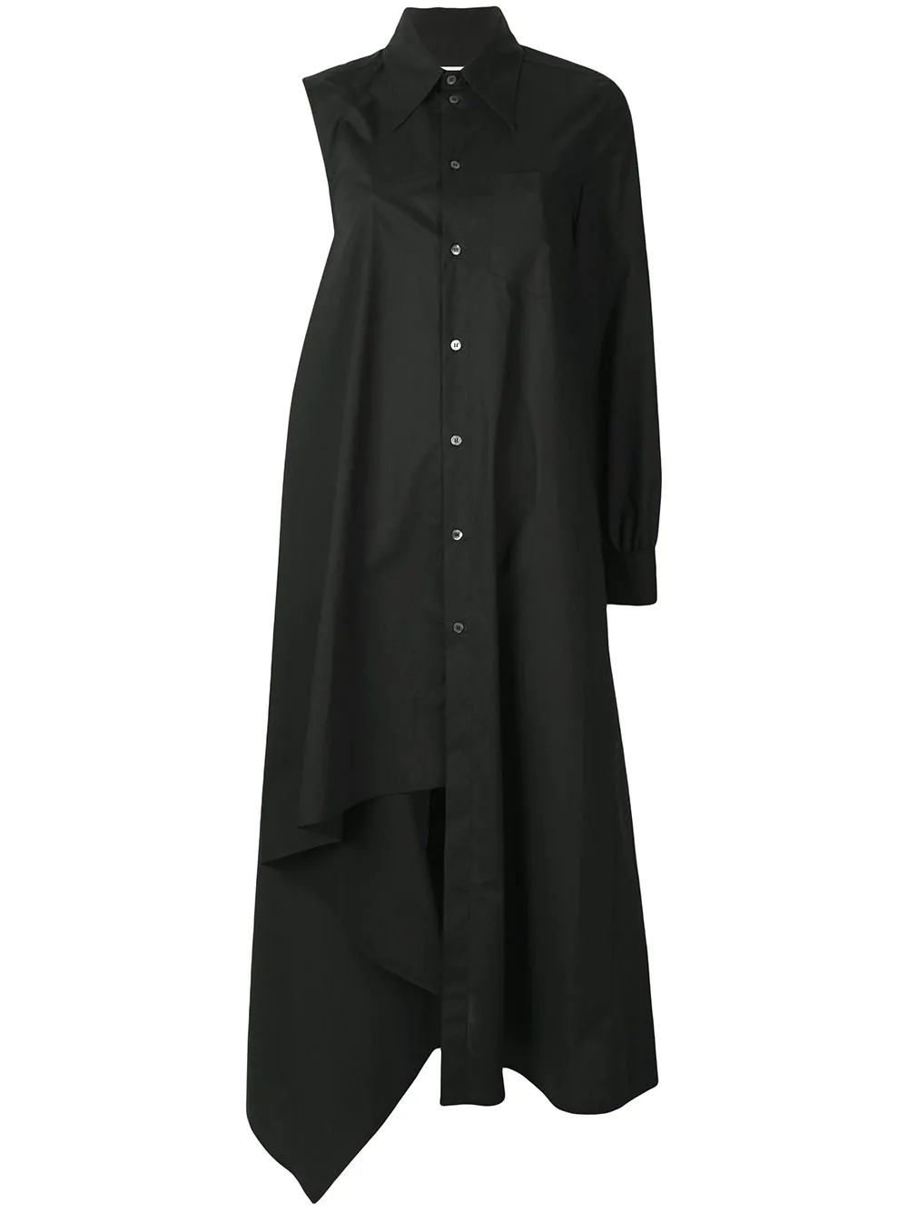de73520d55dc Mm6 Maison Margiela Asymmetric Shirt Dress - Black | ModeSens
