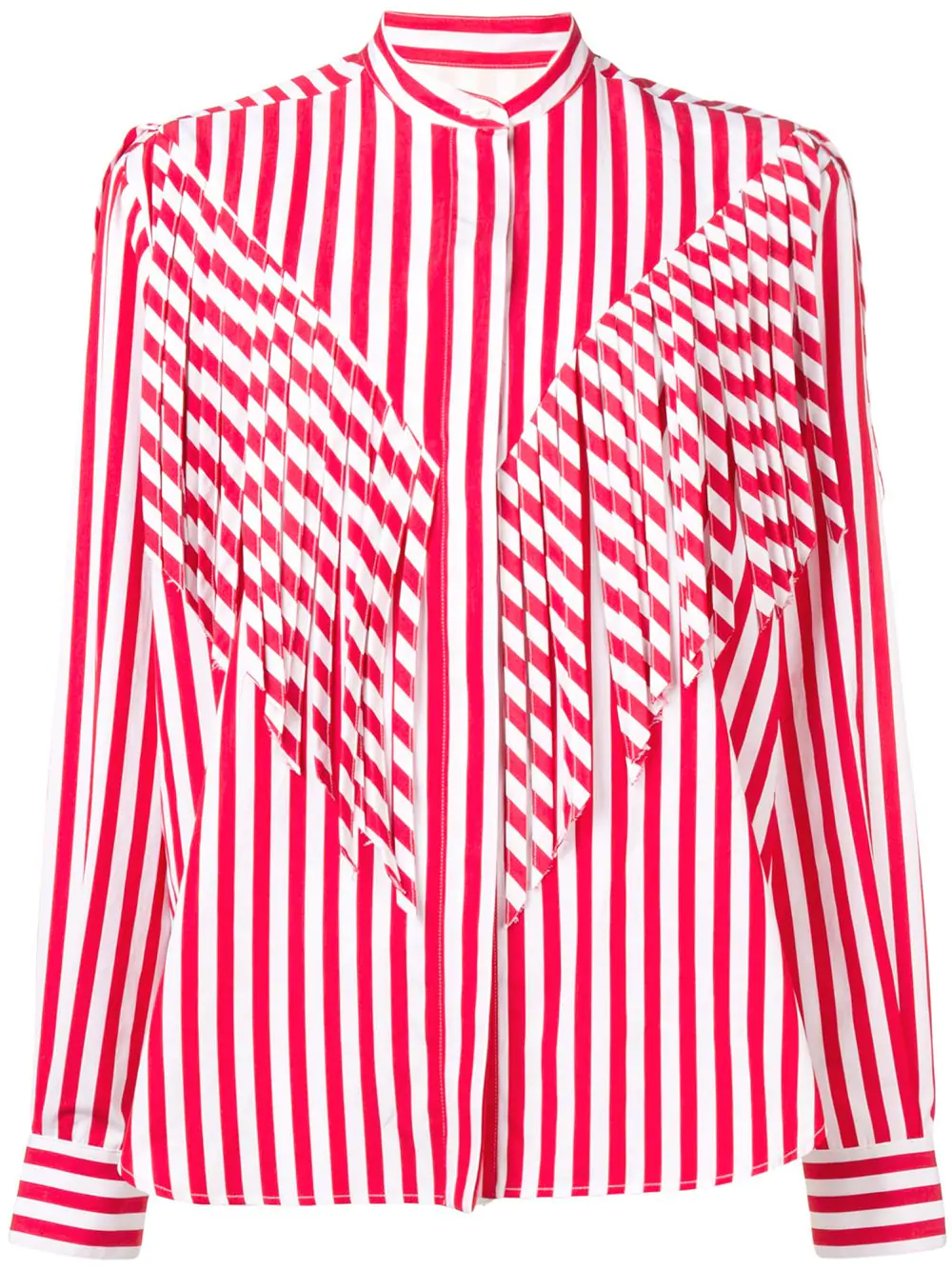 9d361c824af4f8 Msgm Striped Top With Fringe In Red | ModeSens