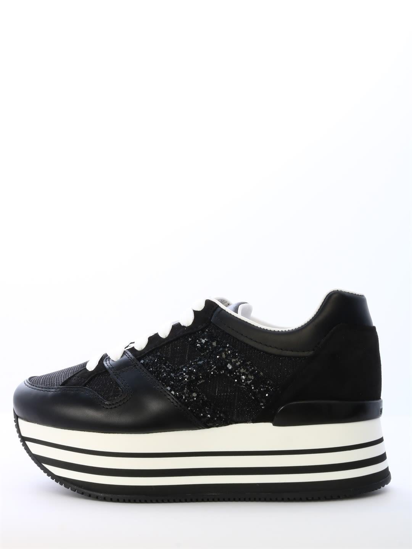 Hogan Sneakers Maxi H222 Glitter In Black | ModeSens