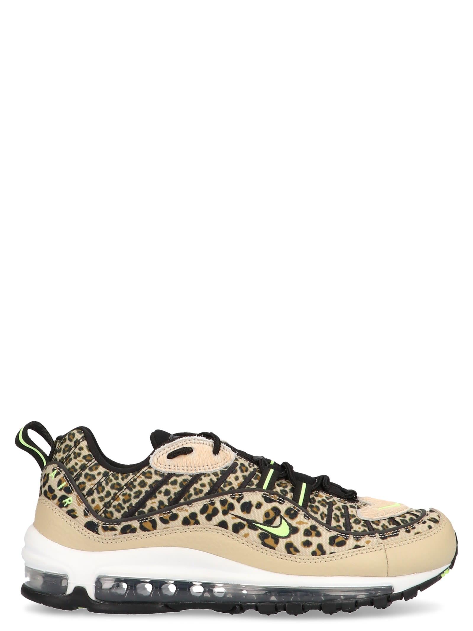 nike air max gold leopard print