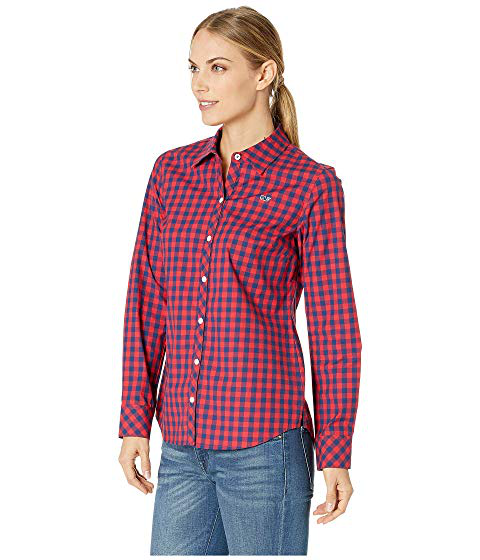 e9f8a870 Vineyard Vines Mini Gingham Classic Button Down Shirt, Red Velvet ...
