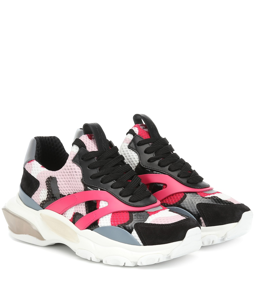 71d74558d93b Valentino Vltn Camouflage Low-Top Bounce Sneaker In Pink