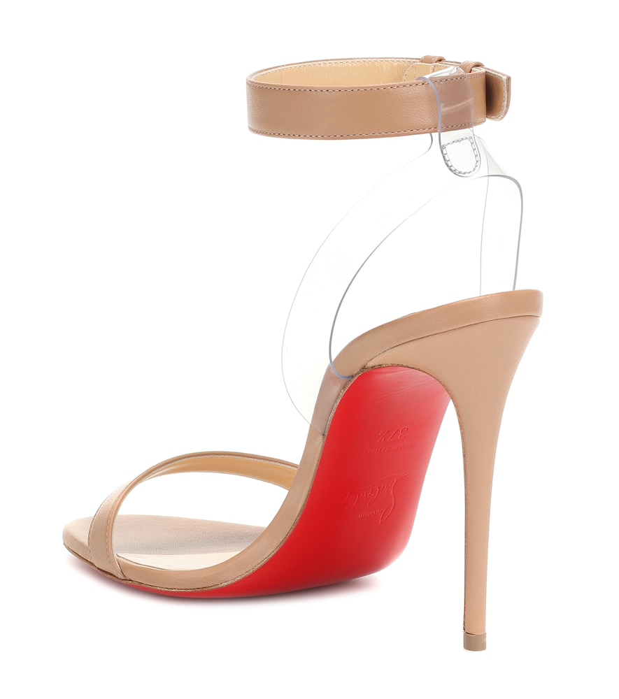 b521a1cd2ab4 Christian Louboutin Jonatina Illusion Ankle-Strap Red Sole Sandals ...