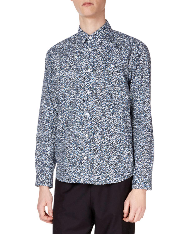 6013d2af Kenzo Men's Animal-Print Casual-Fit Sport Shirt, Light Blue | ModeSens