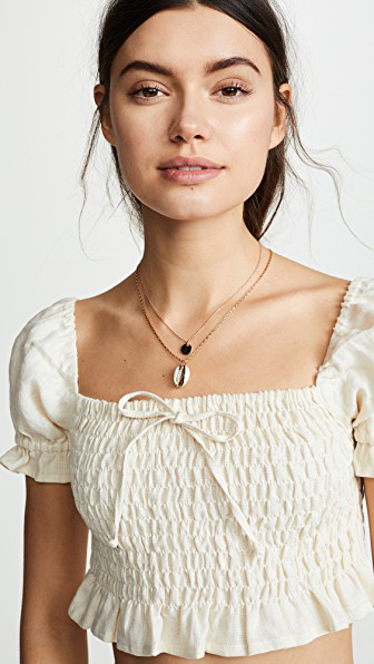 b399cb9d33 Faithfull The Brand Marie Top In Plain Cream Linen
