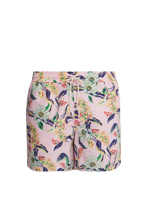 2f7cd8b627976 Polo Ralph Lauren - Traveller Lotus Print Swim Shorts - Mens - Light Pink