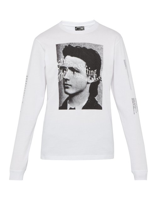658c92fe76d3 Perks And Mini P.A.M. - Ideas Are Real Print Long Sleeved Cotton T Shirt -  Mens