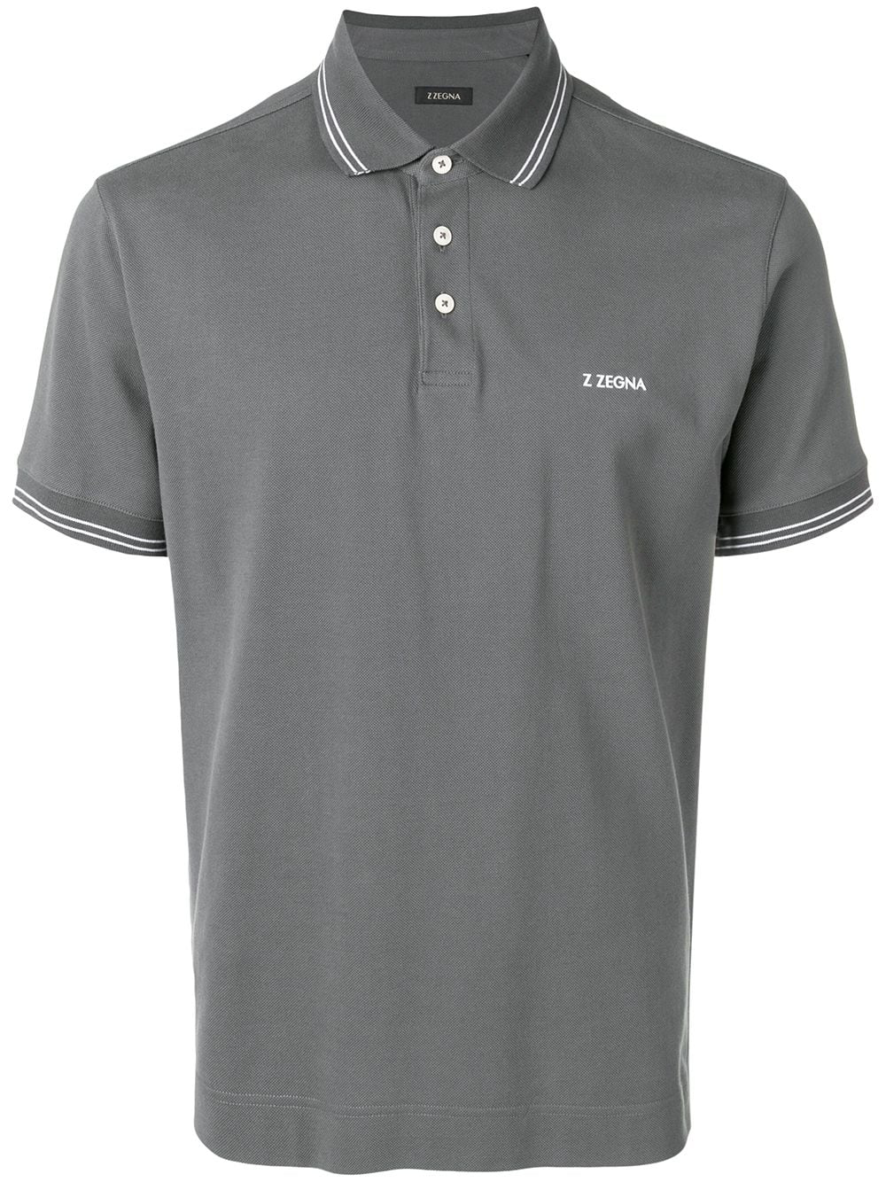 ac919007a Z Zegna Chest Logo Polo Shirt - Grey | ModeSens