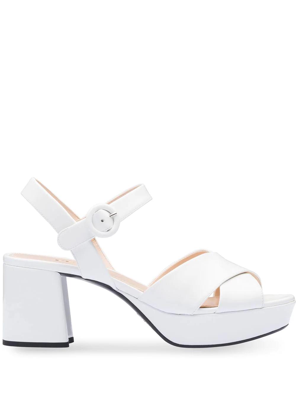 228b60fc1dd Prada Platform Sandals - White
