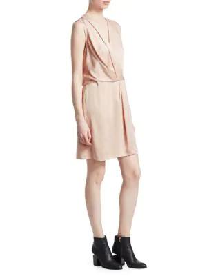 50a898c6a76b99 Rag & Bone Victor Silk Sleeveless Wrap Dress In Dusty Rose | ModeSens