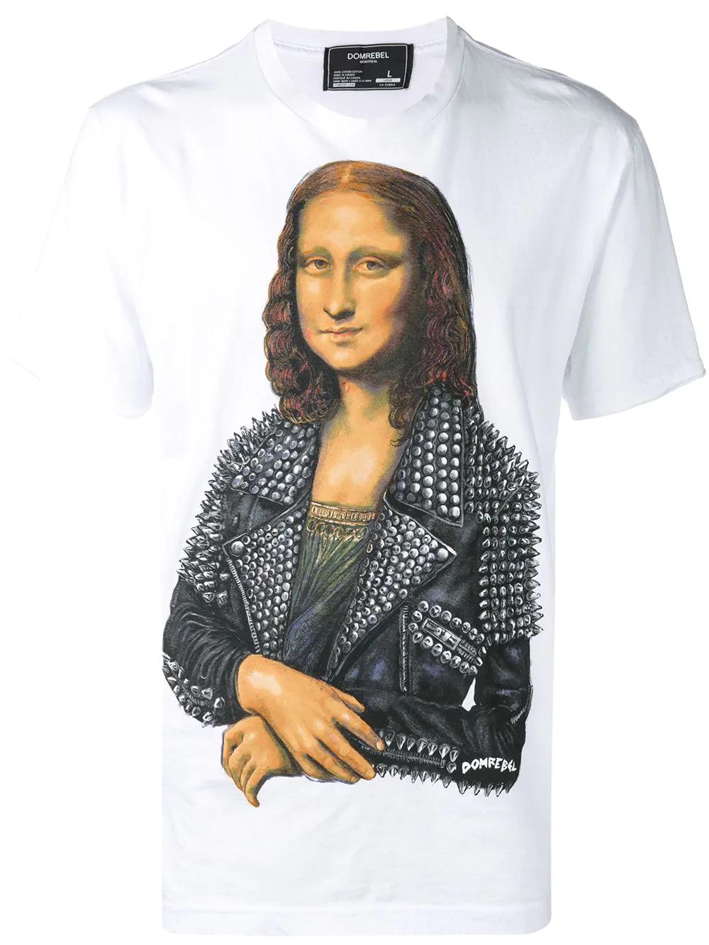 1399f634c Dom Rebel Mona Lisa Print T-Shirt - White   ModeSens
