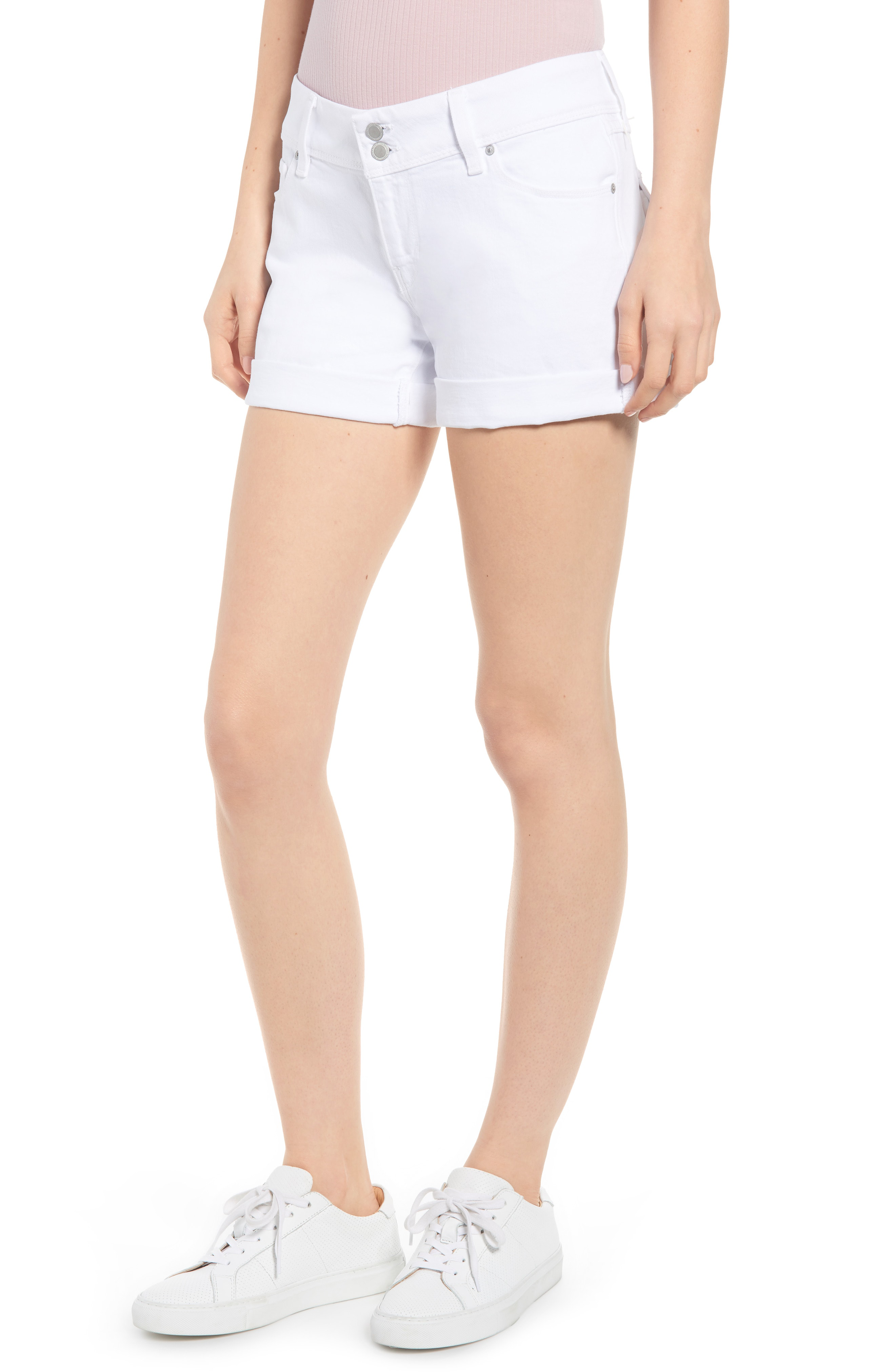 1be8f929cdf Hudson Croxley Mid-Rise Denim Shorts In White 2 | ModeSens