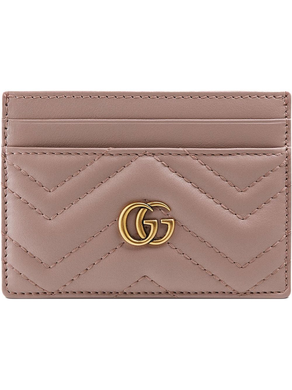bb01fe72324ff5 Gucci Gg Marmont Card Case - Pink | ModeSens