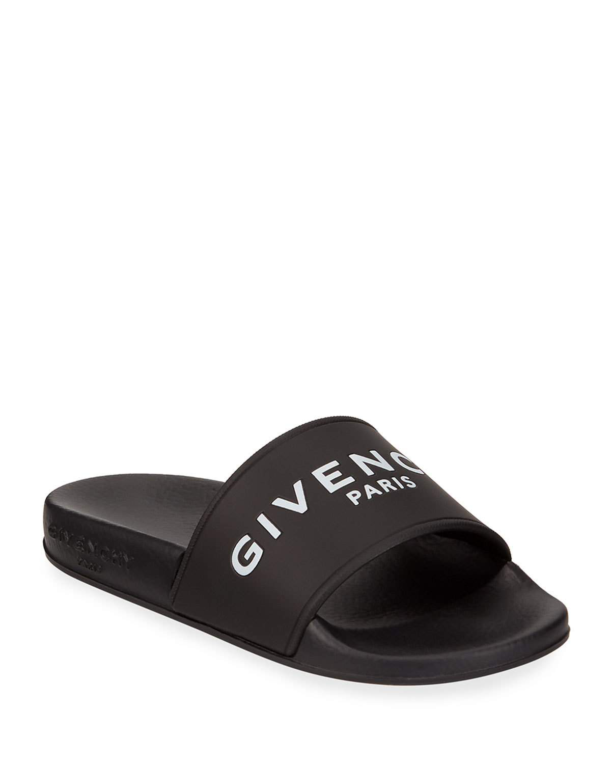98f1a9f1f07a Star-textured rubber sole. Available in Black White. Made in Italy. Givenchy  Women s Logo Rubber Slide Sandals - Black Size 10 A great designer gift.