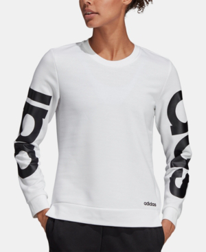 8a80c49a36f Adidas Originals Adidas Essential Logo French Terry Sweatshirt In White