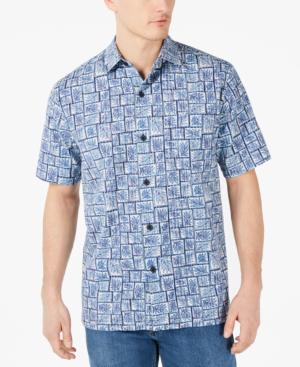 52857ac3 Tommy Bahama Men's Tonga Tiles Regular-Fit Printed Camp Shirt In Navy