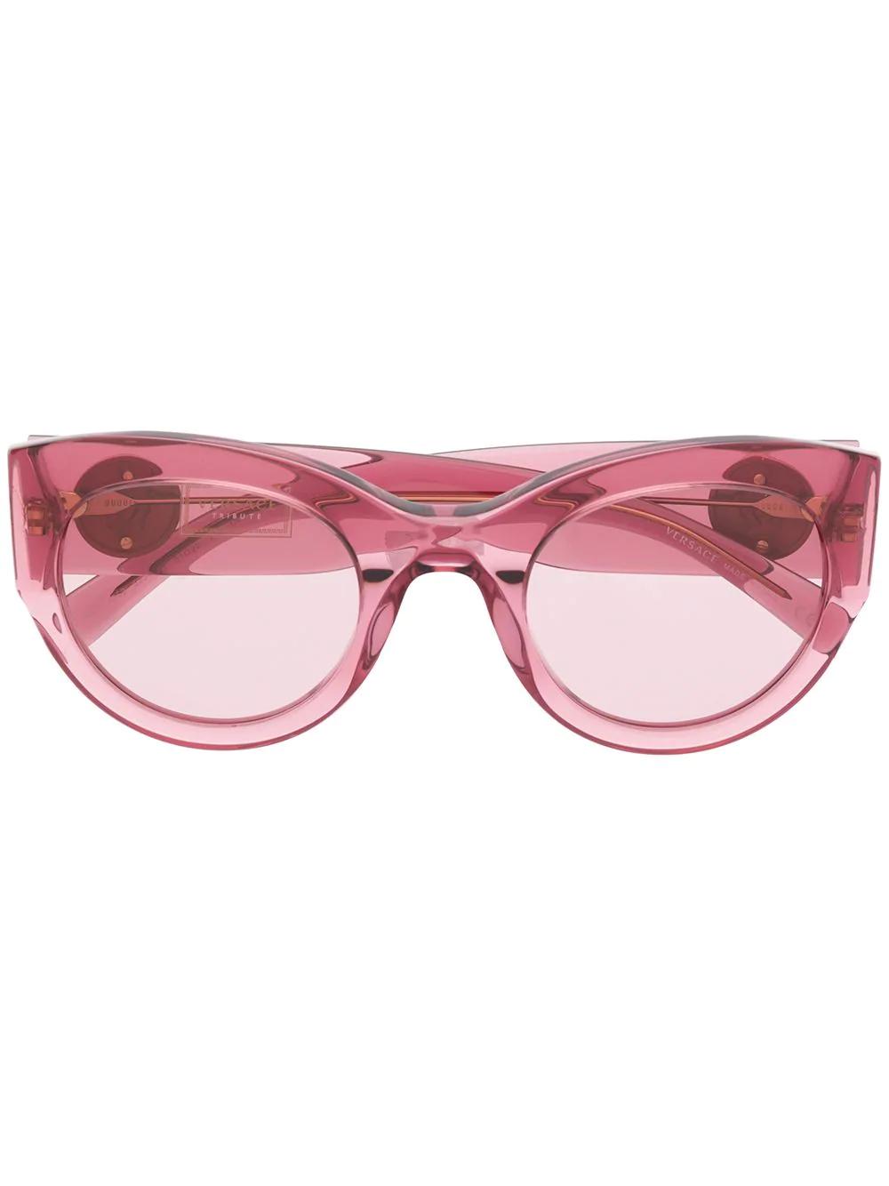 a9a6e53535c Versace Eyewear Oval Sunglasses - Pink