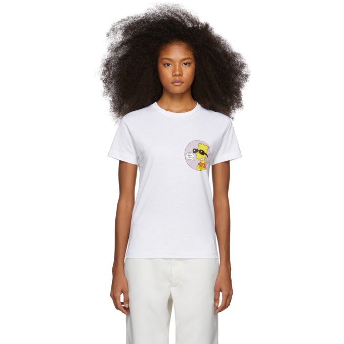 0ebe40209c9 Off-White White Bart. OFF-WHITE. White Bart  Public Enemy  Skinny T-Shirt  ...