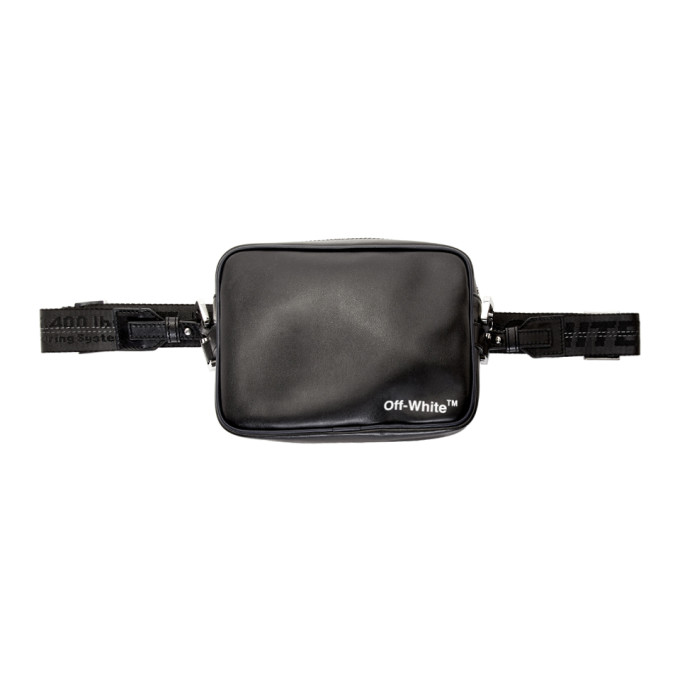 18ec6a398 Off-White Black Leather Crossbody Bag | ModeSens