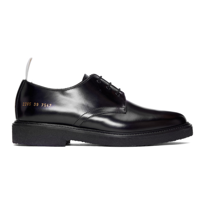 4c9ec470a966 Common Projects Cadet Leather Derby Shoes - Black In 7547 Black ...