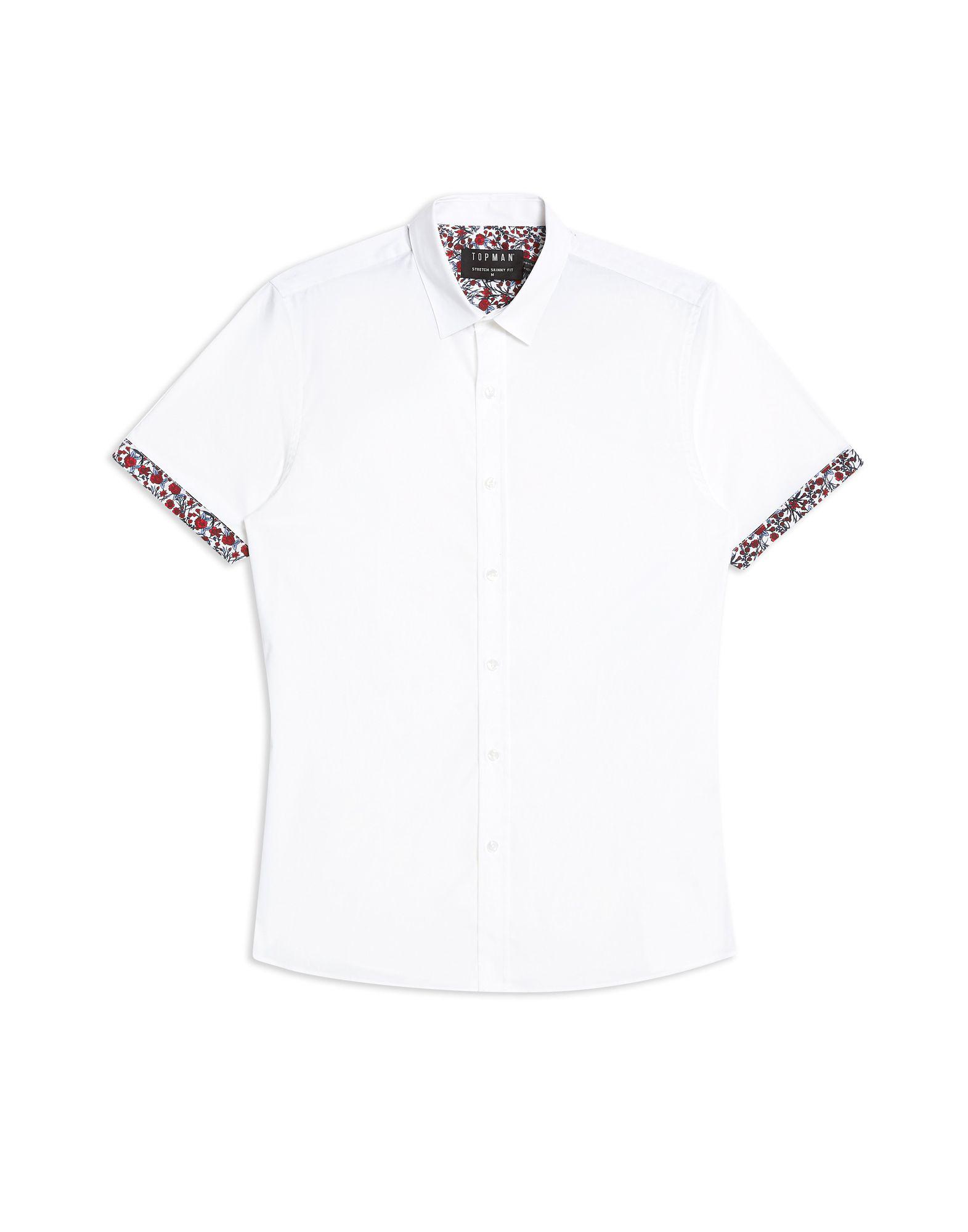 208c2b52296 Topman Shirts In White