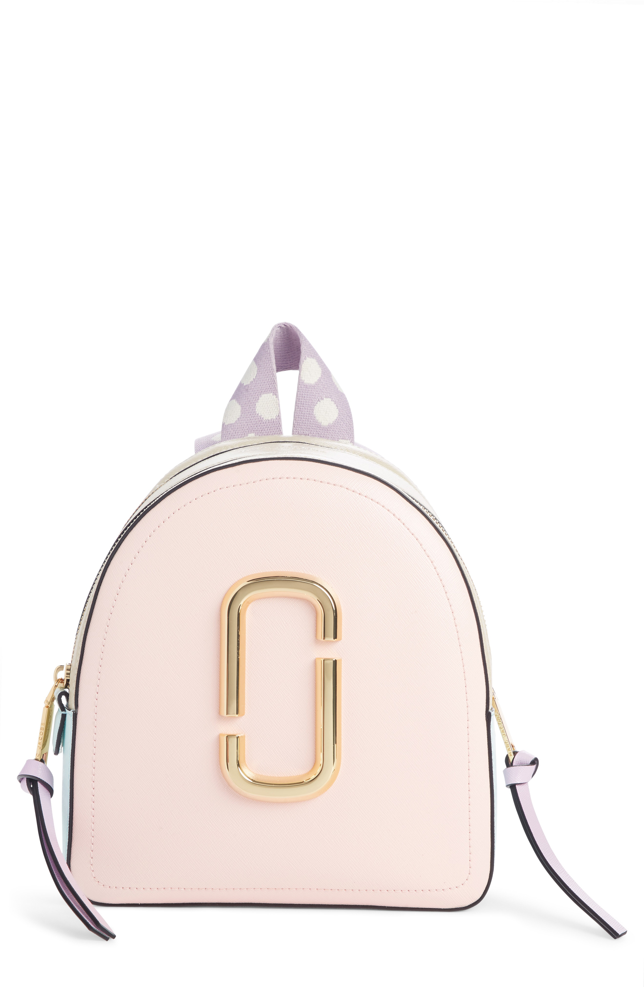 8dce0dc228aa Marc Jacobs Pack Shot Leather Backpack - Pink In Blush Multi