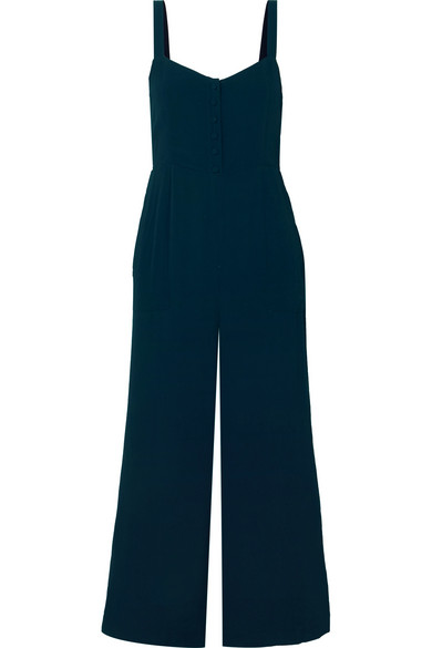 ed2a624a7e Madewell Button Front Wide Leg Jumpsuit In Navy