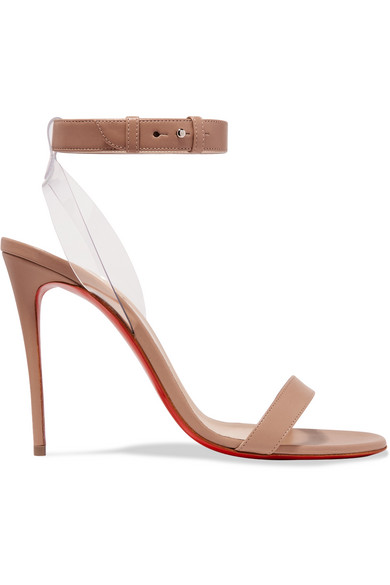39095288cd6c Christian Louboutin Jonatina Illusion Ankle-Strap Red Sole Sandals In  Neutral