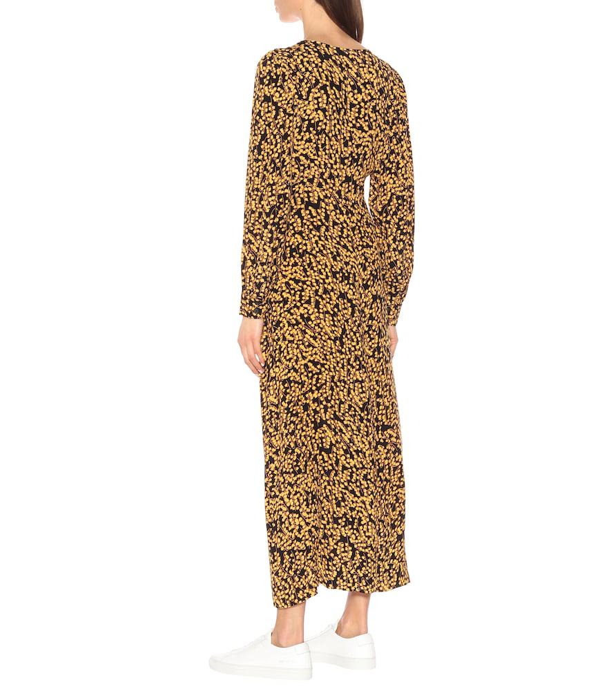 f8c4ab8c Ganni Floral-Print Crepe De Chine Midi Dress In Black | ModeSens
