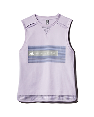 14d4829fbf0837 Adidas By Stella Mccartney Mesh-Hem Logo Tank In Ice Lavender   ModeSens