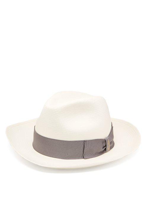 8910c6c9864 Borsalino - Panama Wide Brim Straw Hat - Mens - White