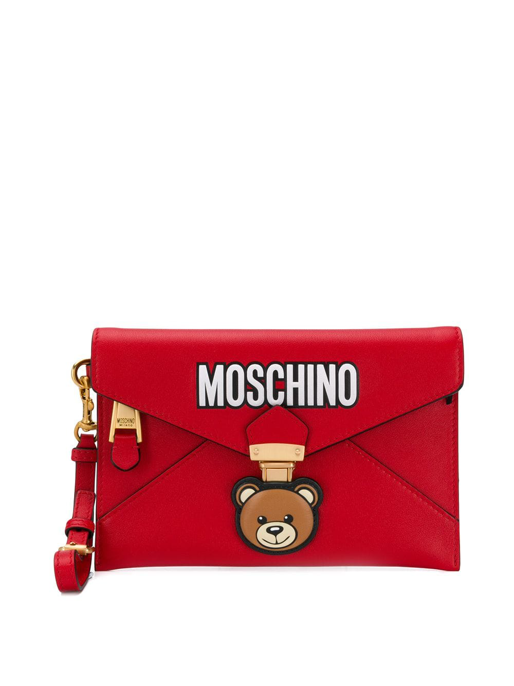 02713663fb Moschino Teddy Bear Envelope Clutch - Red | ModeSens