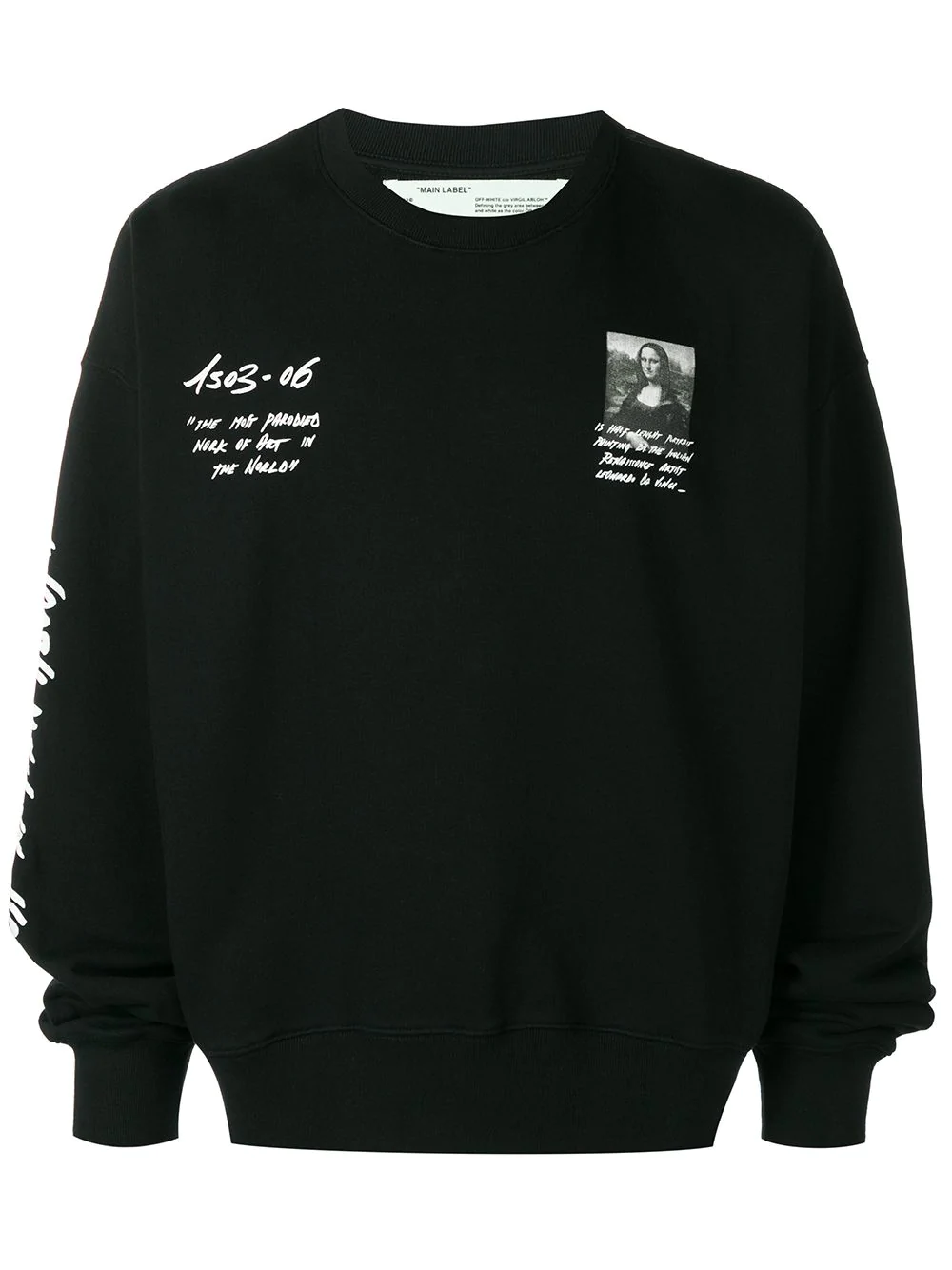 a7b31499 Off-White Mona Lisa Print Sweatshirt In Black | ModeSens