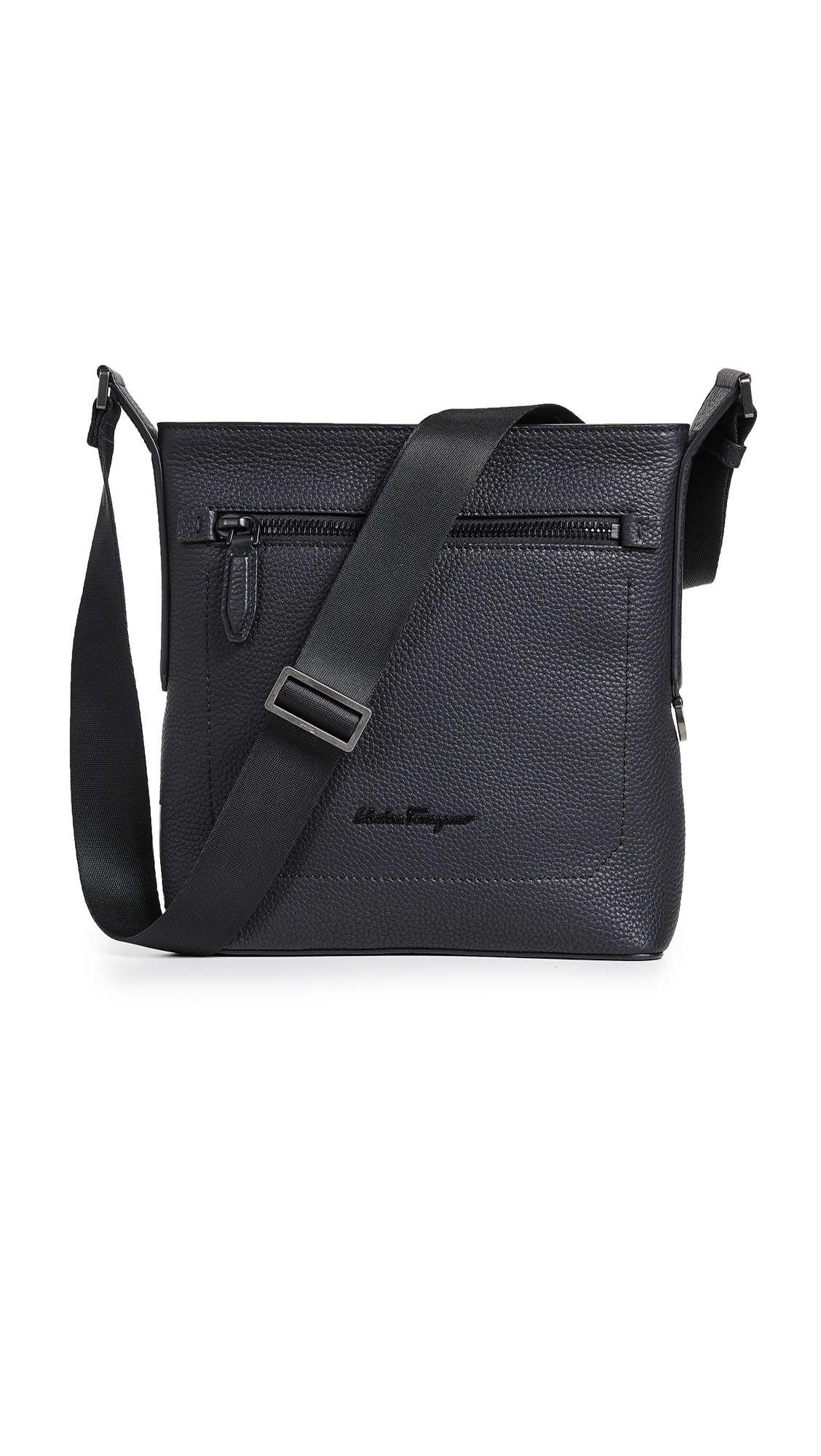 13fab63568 Salvatore Ferragamo Firenze Leather Crossbody Bag In Nero