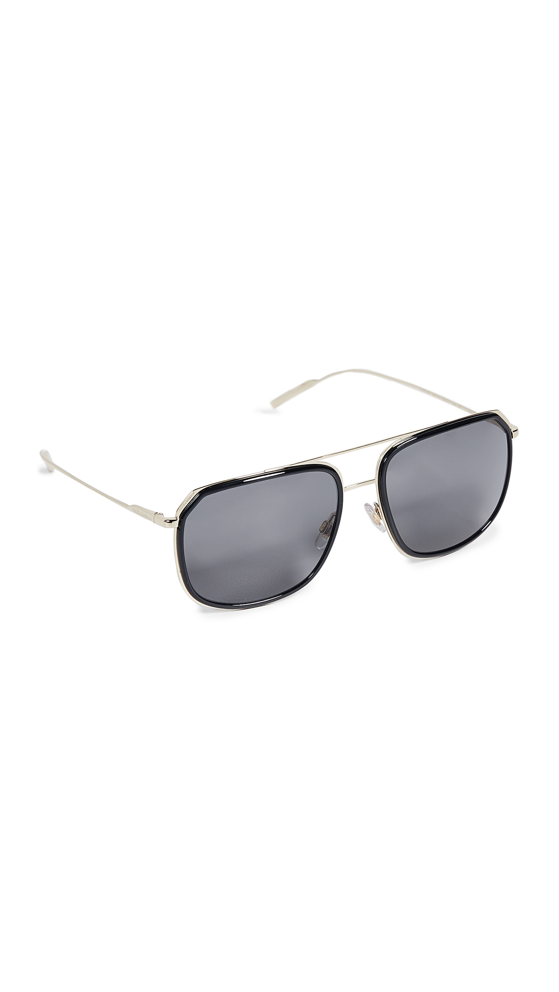 91defbd4c8 Dolce   Gabbana Dg2165 Polarized Sunglasses In Black Pale Gold Grey ...