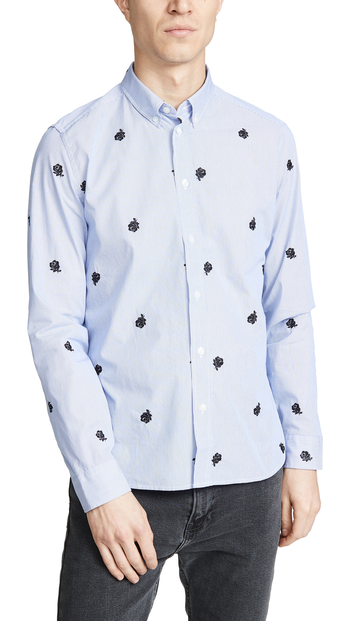 7a1a9f79 Kenzo Button Down Slim Fit Shirt In Sky Blue | ModeSens