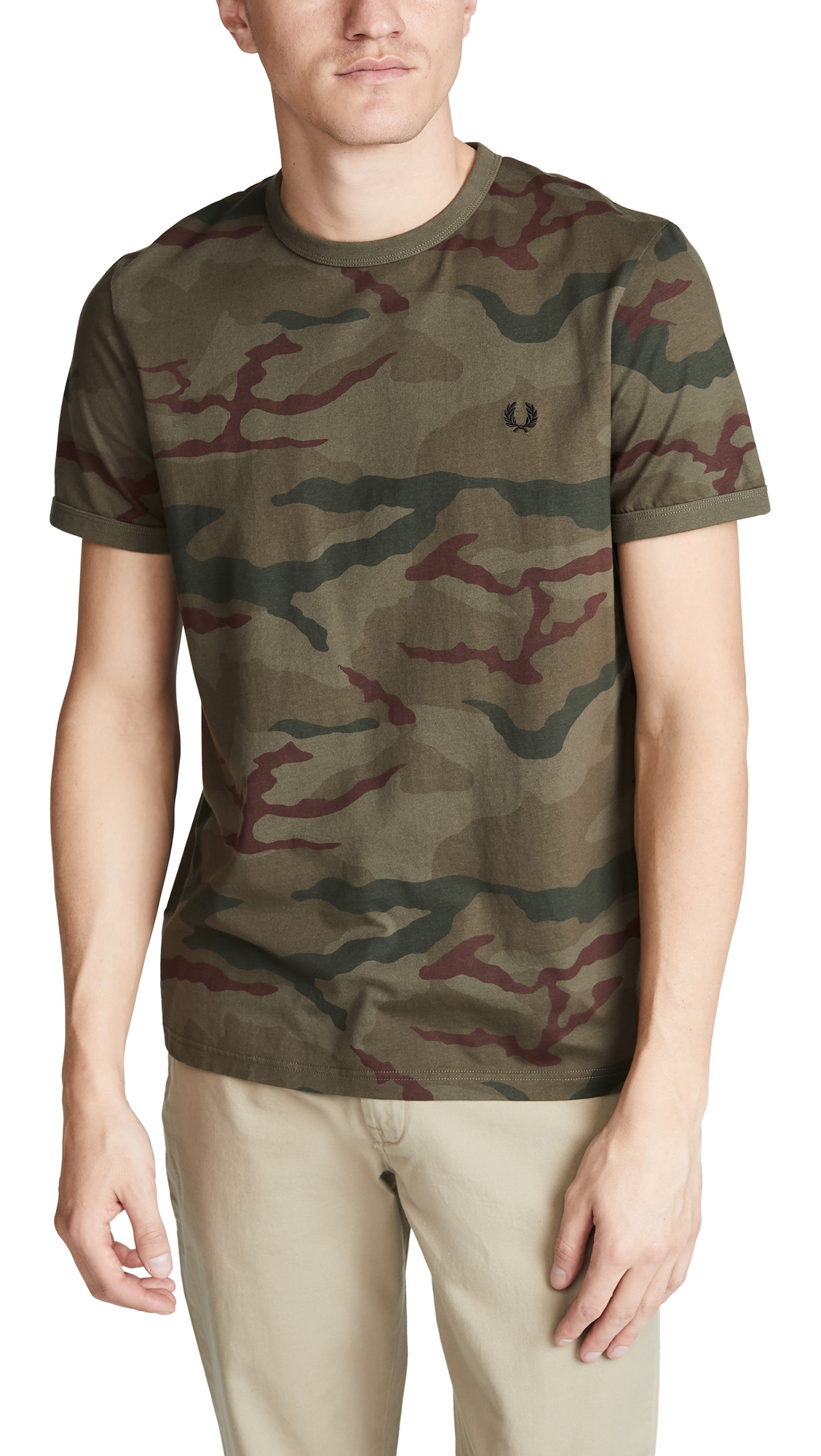 42034121 Fred Perry Camouflage T-Shirt In Iris Tundra Camo | ModeSens