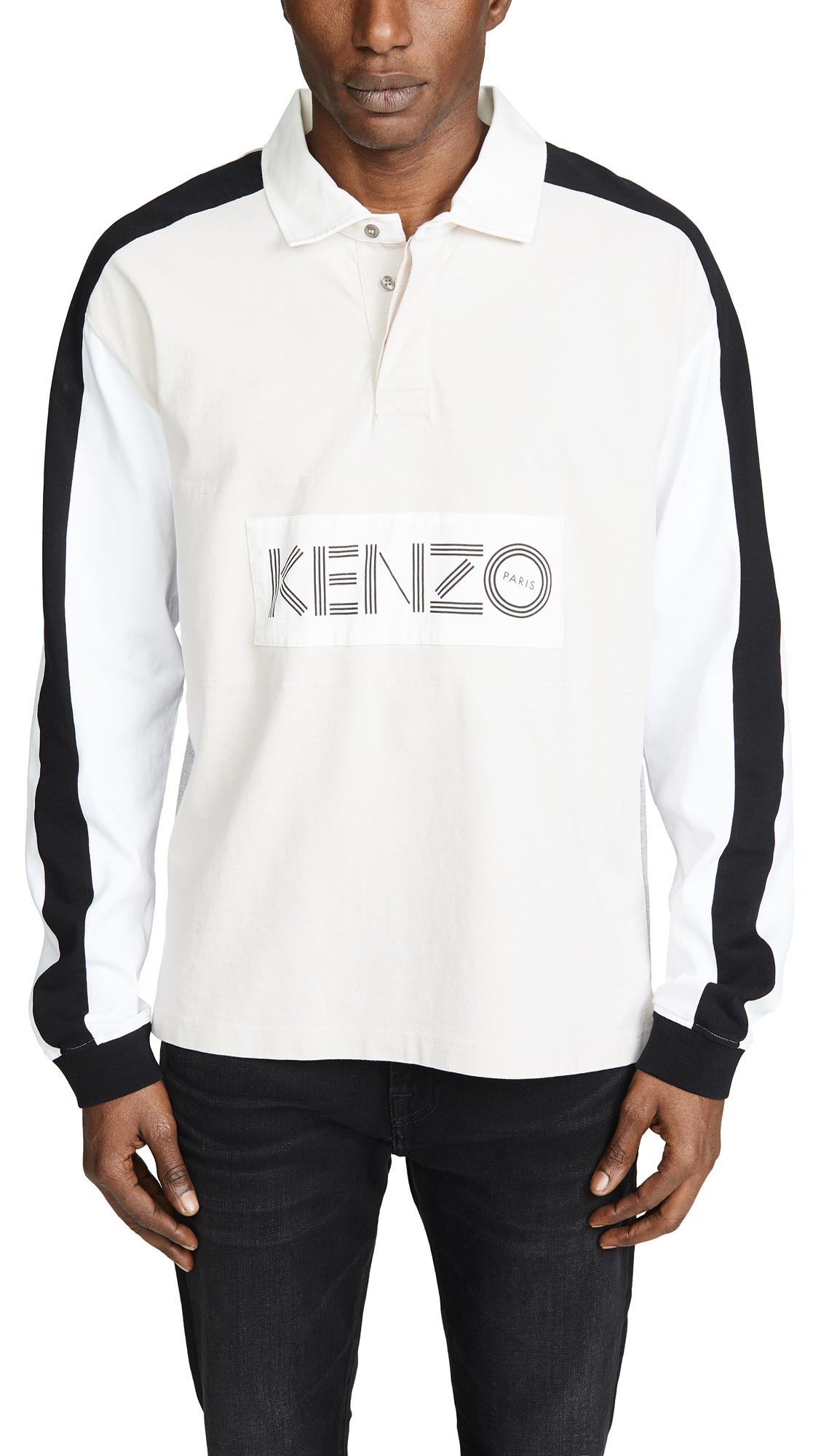 62bd626c Kenzo Rugby Long Sleeve Polo Shirt In Cream   ModeSens
