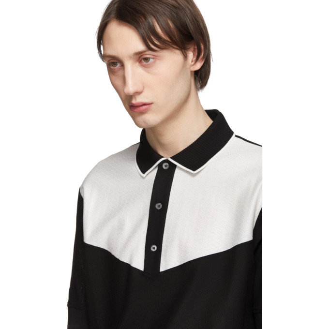 ba1c715f18b7 Paul Smith Herringbone-Panelled Cotton PiquÉ Polo Shirt In 2 Blk/Wht ...