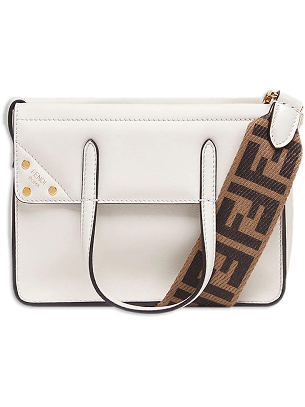 f4fb9bca1c5e Fendi Flip Mini Handbag - White