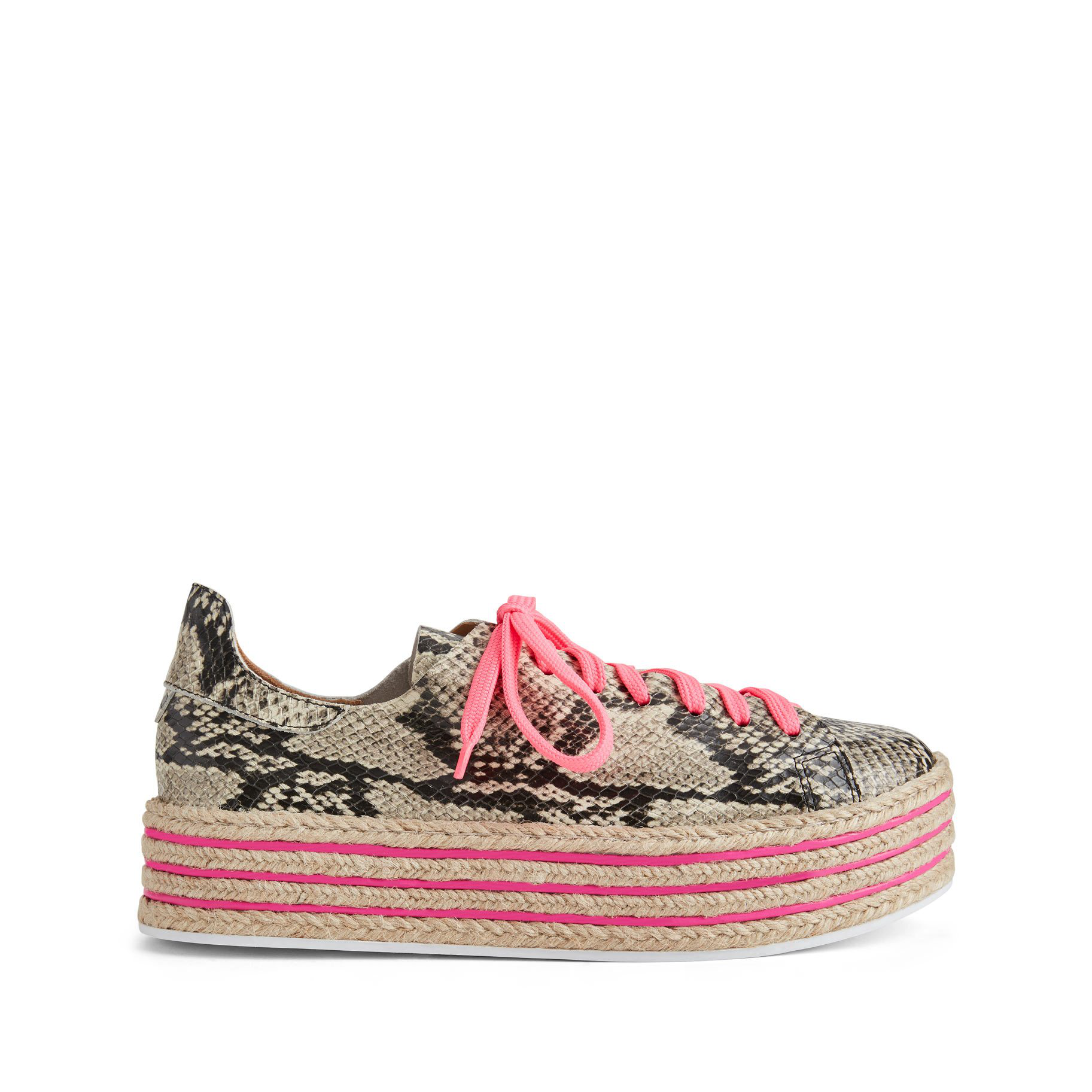 41a1aaedec34 Schutz Demisiana Platform Sneaker In Natural Snake