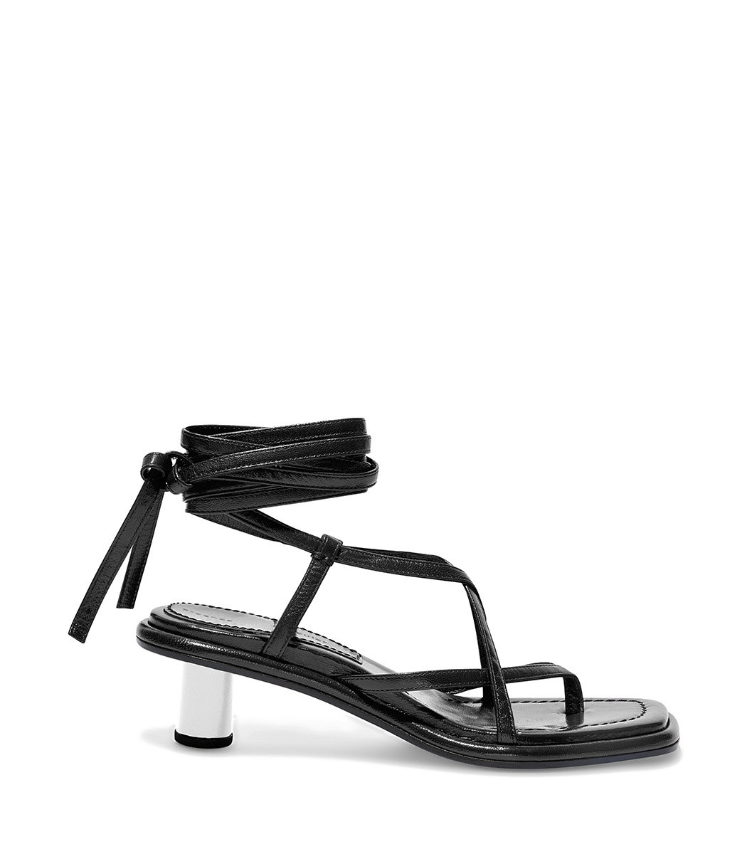 537418d54cd Proenza Schouler Strappy Mid Heel Sandals In Black