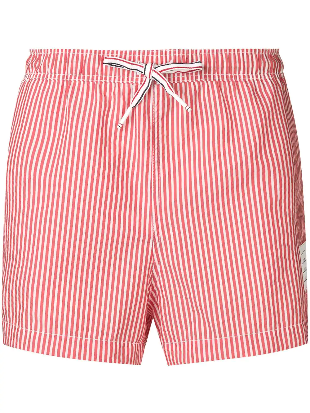 2eef6fcf57ec3 Thom Browne Striped Swimming Shorts - Red   ModeSens