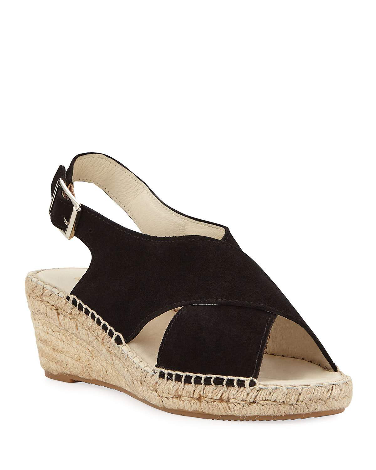 cd4f86165d1 Rory Suede Wedge Espadrilles in Black